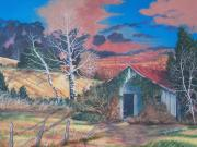 Vine Painting Originals - Shack Of Yesteryear by Seth Wade