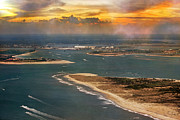 Shackleford Banks Fort Macon North Carolina Print by Betsy A Cutler Islands and Science