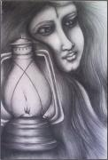 Night Lamp Drawings - Shades by Abhilash Am