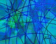 Shades Of Blue   Print by Ann Powell