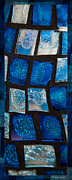 Glass Paintings - Shades of Blue II by Omaste Witkowski