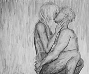 Erotic Prints - Shades of Grey - wet romance Print by Nik Helbig