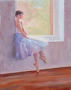 Ballet Dancer Posters - Shades of Lavender Two Poster by Laura Lee Zanghetti