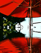 Umbrella Prints - Shades of Red Print by Robert Smith