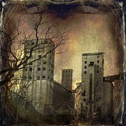 Old Buildings Digital Art Framed Prints - Shades Of Time Framed Print by Gothicolors And Crows