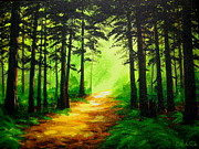 Serenity Landscapes Paintings - SHADOW and LIGHT  by Shasta Eone