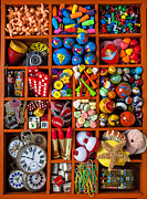 Button Posters - Shadow box collection Poster by Garry Gay