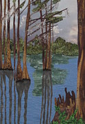 Lake Tapestries - Textiles - Shadow Dancing at Greenfield Lake by Anita Jacques