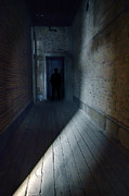 Mysterious Doorway Posters - Shadow Man Poster by Jill Battaglia