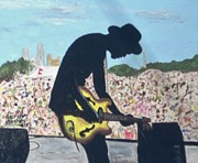 Concert Painting Originals - Shadow of a Bluesman by Darrell Hughes