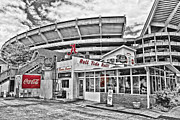 Selective Color Posters - Shadow of the Stadium Poster by Scott Pellegrin