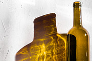 Wine Bottle Wall Art Photos - Shadow On The Wall by Simonas Vaikasas