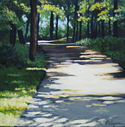 Shadow Path Print by Carlynne Hershberger