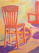 Chair Pastels Metal Prints - Shadow Play Metal Print by Kendall Kessler