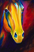 Colorful Horse Paintings - Shadow by Scott Spillman