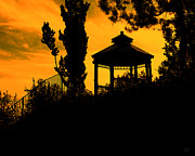 Gazebo Greeting Card Prints - Shadowlands 6 Print by Bedros Awak