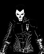 Superheros Drawings - Shadowman Black by Justin Moore