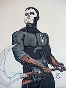 Dc Comics Paintings - Shadowman II by Justin Moore