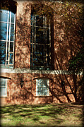Nature Study Digital Art Posters - Shadows Across The Library - Davidson College Poster by Paulette Wright
