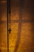 Rosary Posters - Shadows of Faith Poster by Margie Hurwich