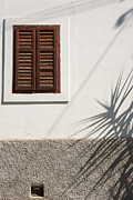 White Frame House Prints - Shadows on old house. Print by Jan Brons
