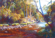 Victoria Pastels - Shadows on the Howqua by Lynda Robinson