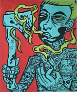 Slim Shady Posters - Shady Deemon Poster by Deemon Picasso