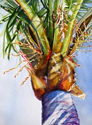 Frond Painting Prints - Shady Palm Tree Print by Carlin Blahnik