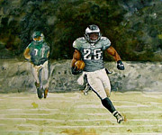 Running Back Painting Framed Prints - Shady Framed Print by Randall Graham