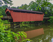 Shaeffer Or Campbell Covered Bridge Print by Jack R Perry
