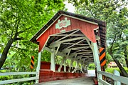 Wooden Bridges Photos - Shafer Covered Bridge by Adam Jewell
