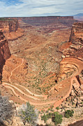 Canyonlands National Park Prints - Shafer Trail Print by Adam Romanowicz