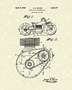 Drive Drawings Posters - Shaft Drive 1943 Patent Art Poster by Prior Art Design