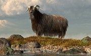 Rural Digital Art - Shaggy Goat by Daniel Eskridge