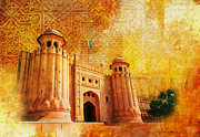 Historic Site Painting Metal Prints - Shahi Qilla or Royal Fort Metal Print by Catf