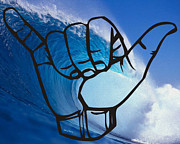 Surf Culture Posters - Shaka Poster by Cheryl Young