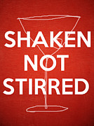 Party Posters - Shaken Not Stirred Poster by Edward Fielding