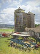 Shed Painting Prints - Shaker Respite Print by David Clark