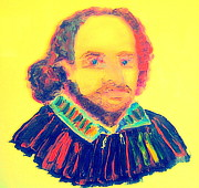 Stratford Paintings - Shakespeare 1 by Richard W Linford