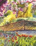 Shakespeare Garden Central Park New York City Print by Carol Wisniewski