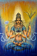Veda Paintings - Shakti flow by Vrindavan Das