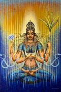 Shakti Flow Print by Vrindavan Das