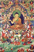 Religious Artist Paintings - Shakyamuni Buddha by Pg Reproductions