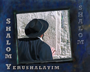 Canvas Framed Prints - Shalom Jerusalem Framed Print by Constance Woods
