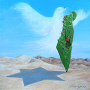 Independence Day Paintings - Shalom  by Miki Karni