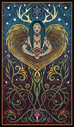 """native American"" Framed Prints - Shaman Framed Print by Cristina McAllister"