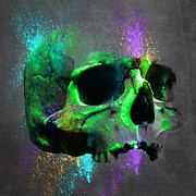 Shamanic Prints - Shamanic  Skull 2 Print by Filippo B
