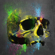 Good-looking Prints - Shamanic  Skull 3 Print by Filippo B