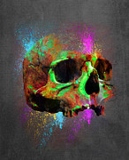 Shamanic Prints - Shamanic Skull  Print by Filippo B