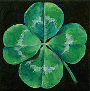 Leprechaun Paintings - Shamrock by Michael Creese